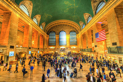 Photograph - Grand Central Station New York by David Pyatt