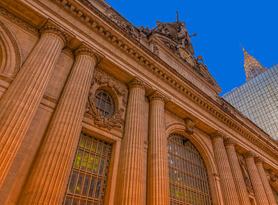 Grand Central Terminal - Chrysler Building Art Print by Susan Candelario