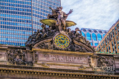 Photograph - Grand Central Terminal Exterior by Nick Zelinsky