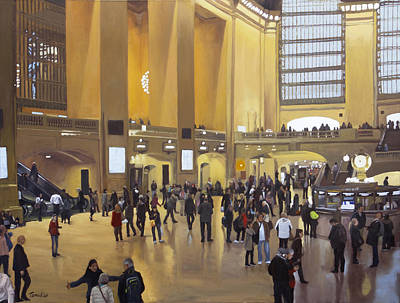 Painting - Grand Central Terminal by Linda Tenukas
