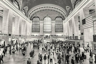 Photograph - Grand Central Terminal Monochrome by Belinda Greb