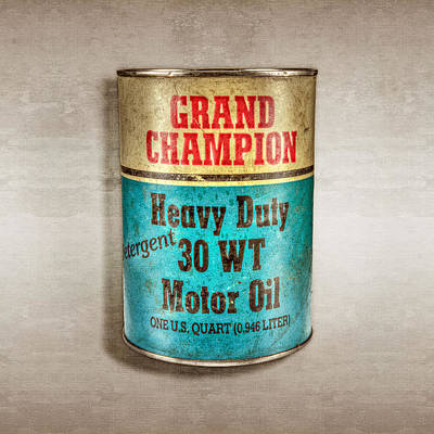 Oil Can Photograph - Grand Champion Motor Oil by YoPedro
