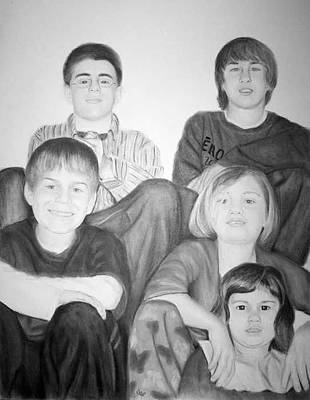 Painting - grand children-  COMMISSIONED PIECE by Joseph Ogle