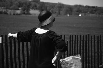 Photograph - Grand Dame Bag Lady At The Steeple Chase by Wayne King