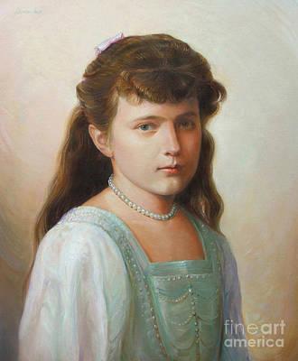 Grand Duchess Anastasia Nikolaevna Of Russia Art Print by George Alexander