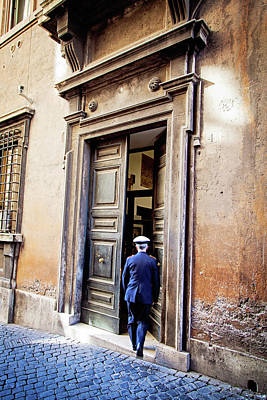 Photograph - Grand Entrance - Rome, Italy by Melanie Alexandra Price