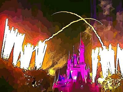Grand Finale Fireworks Original by John Malone