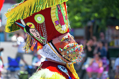 Parade Float Photograph - Grand Floral Parade Costume Closeup by Jess Kraft