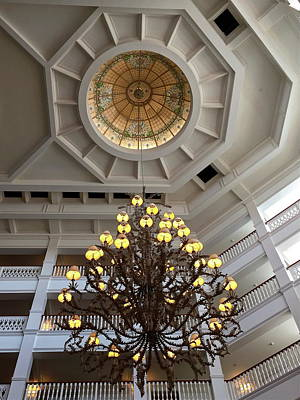 Photograph - Grand Floridian Chandelier by Denise Mazzocco