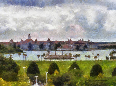 City Hall Mixed Media - Grand Floridian Resort Disney World by Thomas Woolworth