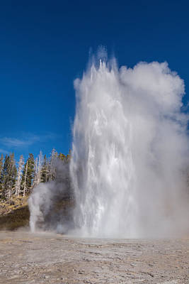 Photograph - Grand Geyser 9 Oct 2015 by Janet Jones