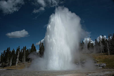 Photograph - Grand Geyser by Jennifer Ancker
