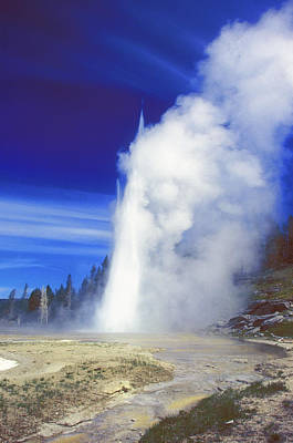 Photograph - Grand Geyser by John Burk