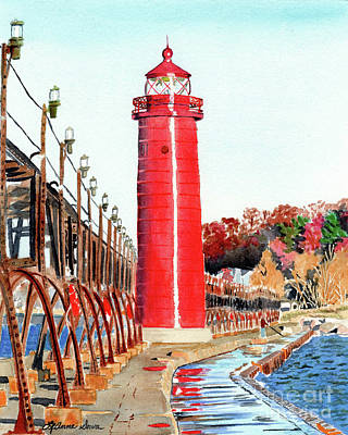 Painting - Grand Haven Autumn by LeAnne Sowa