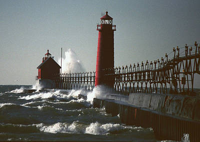 Photograph - Grand Haven, Michigan by Kenneth Campbell
