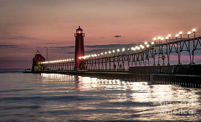 Photograph - Grand Haven Nights by Mark Shutt