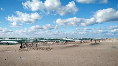 Sandblasted Photograph - Grand Haven State Park by Michelle Calkins