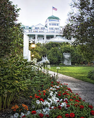Walkway Digital Art - Grand Hotel Garden by Rebecca Snyder