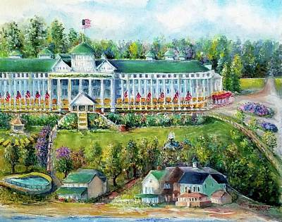 Painting - Grand Hotel Mackinac Island Michigan -s by Bernadette Krupa