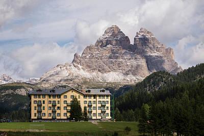 Photograph - Grand Hotel Misurina On A Sunny Autumn Day In Dolomites, Italy by Blaz Gvajc