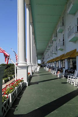 Photograph - Grand Hotel Porch 2 by Mary Bedy