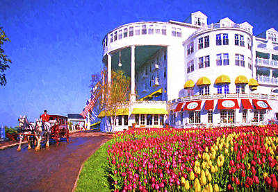 Digital Art - Grand Hotel Tulips by Dennis Cox Photo Explorer