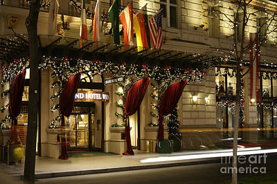 Photograph - Grand Hotel Vienna At Christmas by David Birchall