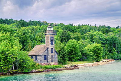 Photograph - Grand Island East Channel Light by Alexey Stiop