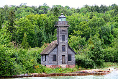 Photograph - Grand Island East Channel Lighthouse #6549 by Mark J Seefeldt
