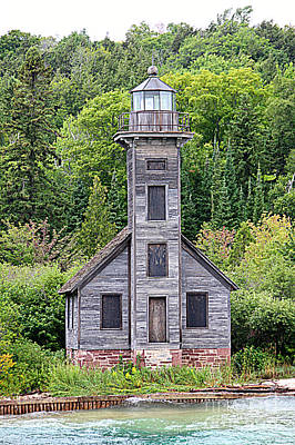 Photograph - Grand Island East Channel Lighthouse #6554 by Mark J Seefeldt