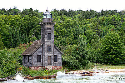 Photograph - Grand Island East Channel Lighthouse #6680 by Mark J Seefeldt