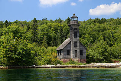Photograph - Grand Island Lighthouse 4 by Mary Bedy