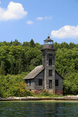 Photograph - Grand Island Lighthouse 5 by Mary Bedy