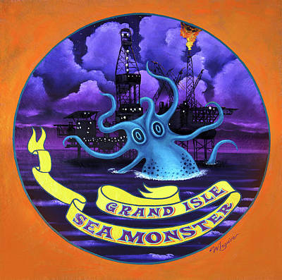 Juxtapose Painting - Grand Isle Sea Monster by Molly McGuire