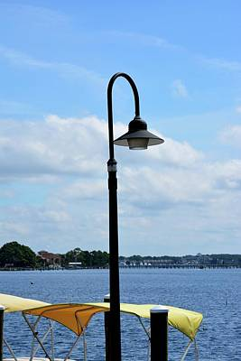 Panama City Beach Photograph - Grand Lagoon Streetlamp by Tamra Lockard