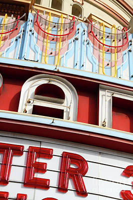 Photograph - Grand Lake Theatre Oakland California 7d13486 by San Francisco Art and Photography