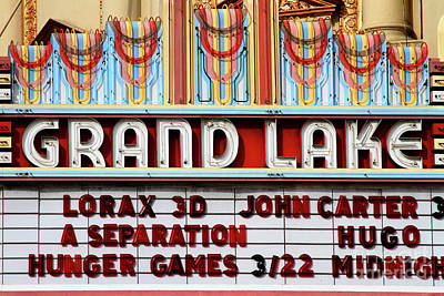 Photograph - Grand Lake Theatre Oakland California 7d13530 by San Francisco Art and Photography