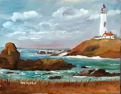 Painting - Grand Lighthouse by Larry Hamilton