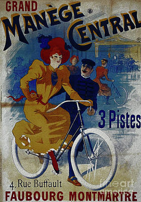 Painting - Grand Manege Central Vintage Cycle Poster by R Muirhead Art