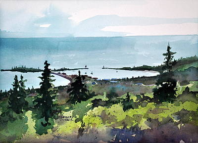 Grand Marais From Pincushion Mountain Original by Spencer Meagher