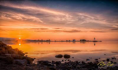 Photograph - Grand Marais Harbor by Rikk Flohr