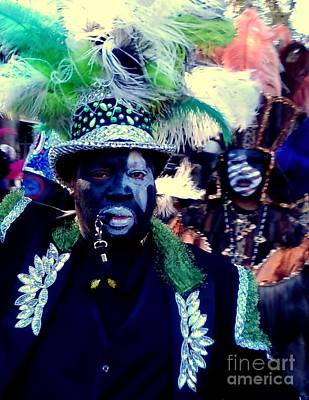 Photograph - Grand Marshall Of The Zulu Parade Mardi Gras 2016 In New Orleans by Michael Hoard