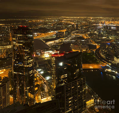 Photograph - Grand Melbourne Glow by Ray Warren