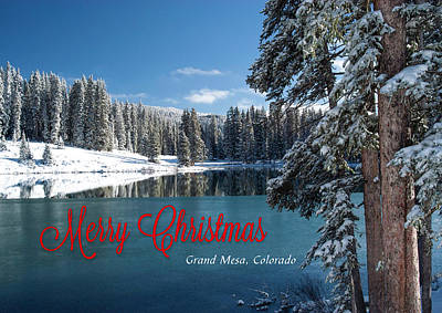 Photograph - Grand Mesa Christmas Card by Roy Kastning