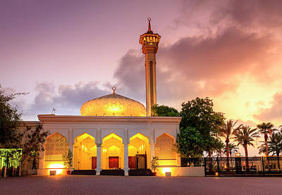 Photograph - Grand Mosque Of Dubai by Alexey Stiop
