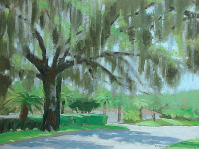 Shady Street Painting - Grand Oak by Robert Rohrich