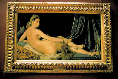 Concubine Photograph - Grand Odalisque At Louvre by Carl Purcell