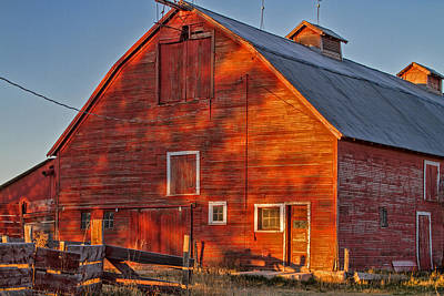 Photograph - Grand Old Barn by Alana Thrower