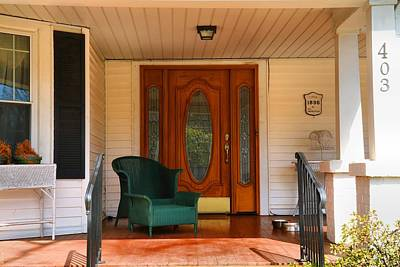 Photograph - Grand Old House Porch 2 by Kathryn Meyer