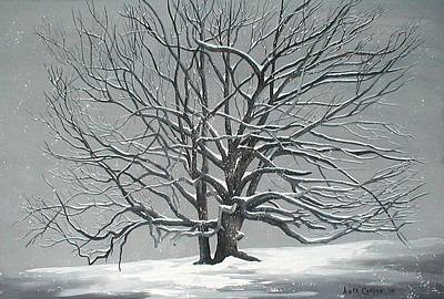 Painting - Grand Old Oak In Winter by Anita Carden